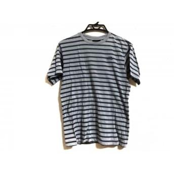 【中古】 ノースフェイス THE NORTH FACE 半袖Tシャツ メンズ グレー ダークネイビー ボーダー