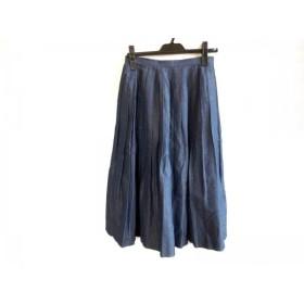 【中古】 サクラ SACRA ロングスカート サイズ36 S レディース ネイビー プリーツ