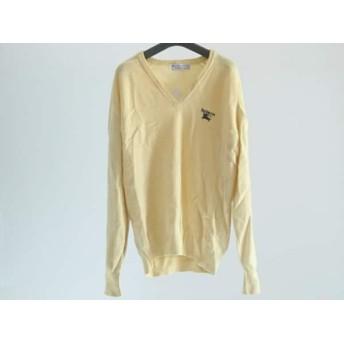 【中古】 バーバリーズ Burberry's 長袖セーター サイズ42 L メンズ イエロー Vネック