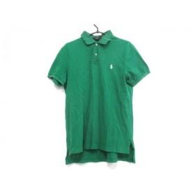 【中古】 ポロラルフローレン POLObyRalphLauren 半袖ポロシャツ サイズL メンズ グリーン