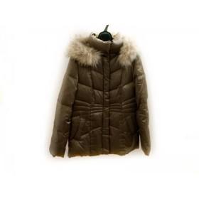 【中古】 アンタイトル UNTITLED ダウンコート サイズ3 L レディース 美品 ブロンズゴールド 冬物