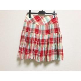 【中古】 ヴィヴィアンウエストウッドレッドレーベル スカート サイズ2 M レディース チェック柄