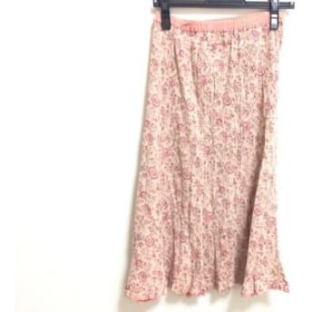 【中古】 ツモリチサト TSUMORI CHISATO スカート サイズ2 M レディース ピンク マルチ フラワー