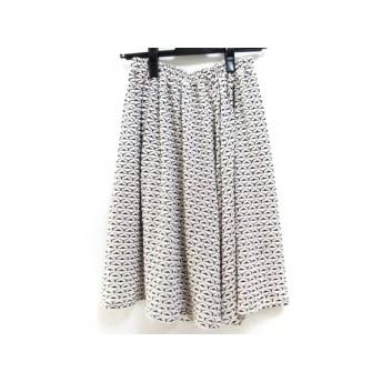 【中古】 ホコモモラ JOCOMOMOLA スカート サイズ40 XL レディース 白 黒