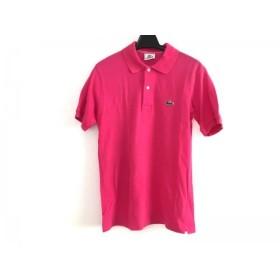 【中古】 ラコステ Lacoste 半袖ポロシャツ メンズ ピンク