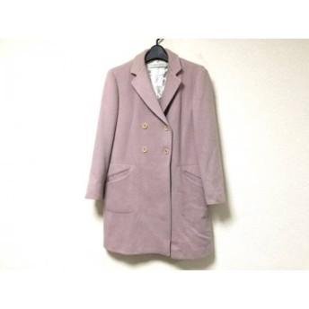 【中古】 ミュウミュウ miumiu コート サイズ40 M レディース ピンク 冬物