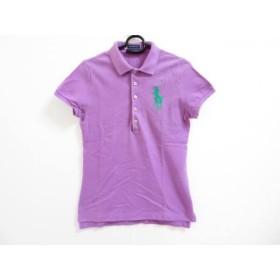 【中古】 ラルフローレン 半袖ポロシャツ サイズM レディース ビッグポニー パープル グリーン