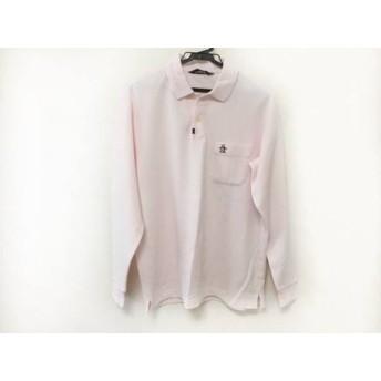 【中古】 マンシングウェア Munsingwear 長袖ポロシャツ サイズM メンズ ピンク