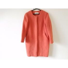 【中古】 ドゥーズィエム DEUXIEME CLASSE コート サイズ36 S レディース 美品 ピンク 冬物