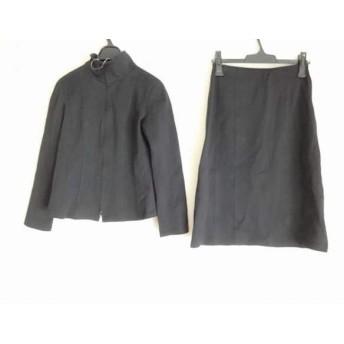 【中古】 レキップ ヨシエイナバ スカートスーツ サイズ9 M レディース 黒 ジップアップ/ハイネック