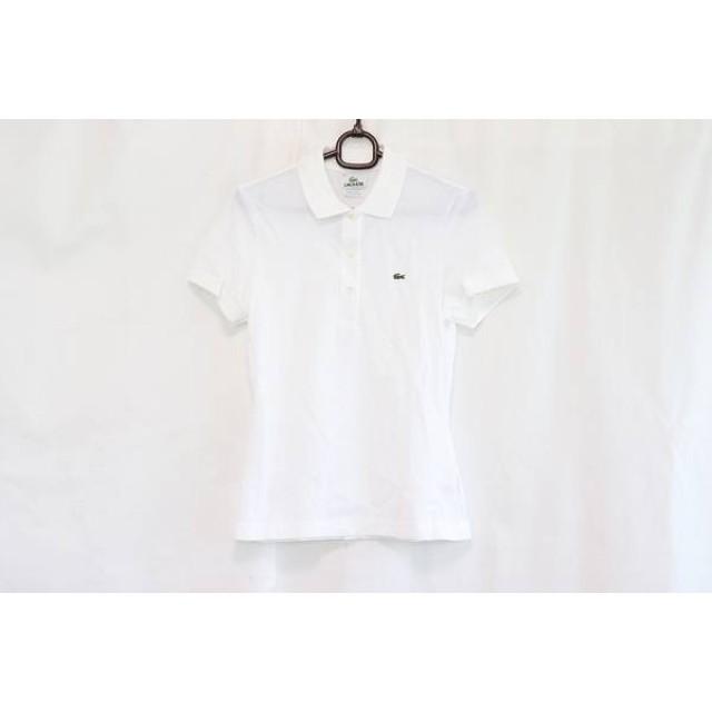 【中古】 ラコステ Lacoste 半袖ポロシャツ サイズ36 S レディース 新品同様 白