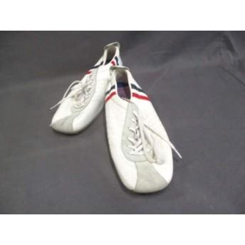【中古】 パトリック PATRICK スニーカー 36 レディース 美品 白 レッド ネイビー レザー