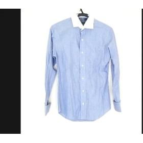 【中古】 ポロラルフローレン POLObyRalphLauren 長袖シャツ サイズ37 メンズ ネイビー 白