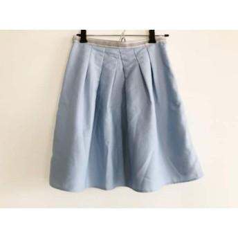 【中古】 アプワイザーリッシェ スカート サイズ0 XS レディース ライトブルー アイボリー