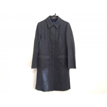 【中古】 バーバリーブルーレーベル Burberry Blue Label コート サイズ38 M レディース グレー 冬物