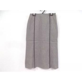 【中古】 ニジュウサンク 23区 ロングスカート サイズ36 S レディース 白 黒