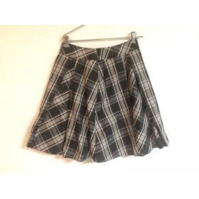 【中古】 ローズティアラ スカート サイズ42 L レディース ダークグレー アイボリー チェック柄