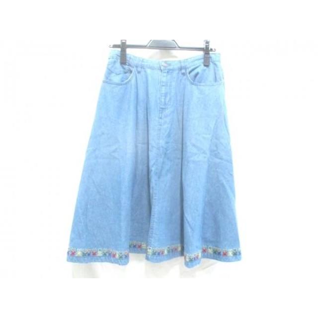 【中古】 ノーブランド スカート サイズF レディース ブルー
