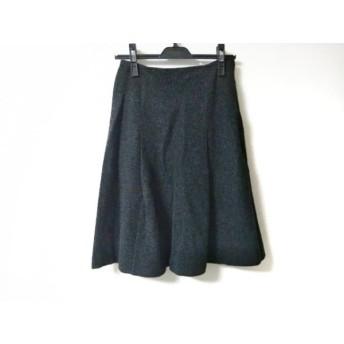 【中古】 アニエスベー agnes b スカート サイズ36 S レディース ダークグレー