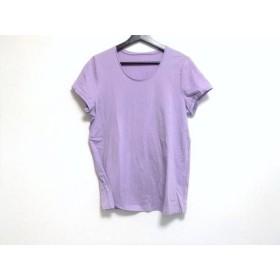 【中古】 レリアン Leilian 半袖Tシャツ サイズ13 L レディース 美品 パープル