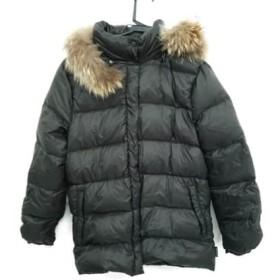 【中古】 モンクレール MONCLER ダウンジャケット サイズ0 XS レディース - ダークブラウン 冬物