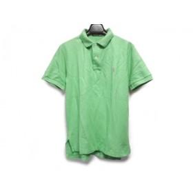 【中古】 ポロラルフローレン POLObyRalphLauren 半袖ポロシャツ サイズM メンズ ライトグリーン