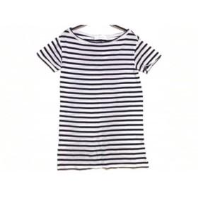 【中古】 ルシェルブルー LE CIEL BLEU 半袖Tシャツ サイズF レディース 白 ダークネイビー ボーダー