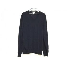 【中古】 アルマーニコレッツォーニ ARMANICOLLEZIONI 長袖セーター サイズ50 M メンズ ネイビー