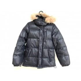 【中古】 マカフィ MACPHEE ダウンジャケット サイズ36 S レディース ネイビー 冬物