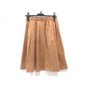 【中古】 ノーブランド スカート サイズM M レディース ブラウン