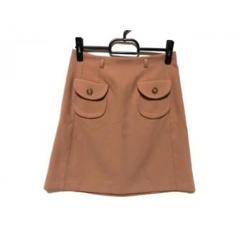 【中古】 アプワイザーリッシェ Apuweiser-riche スカート サイズ2 M レディース ブラウン