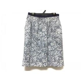 【中古】 ジャスグリッティー JUSGLITTY スカート サイズ1 S レディース 白 ブルー