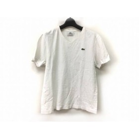 【中古】 ラコステ Lacoste 半袖Tシャツ サイズ2 M レディース アイボリー