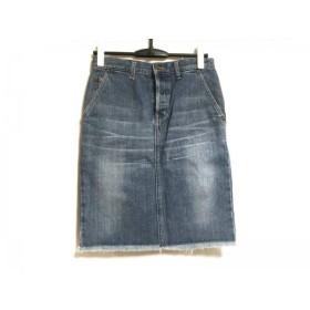 【中古】 ミュベールワーク MUVEIL WORK スカート サイズ36 S レディース ブルー デニム