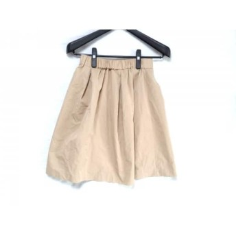 【中古】 スピック&スパン ノーブル Spick & Span Noble スカート サイズ38 M レディース ベージュ プリーツ