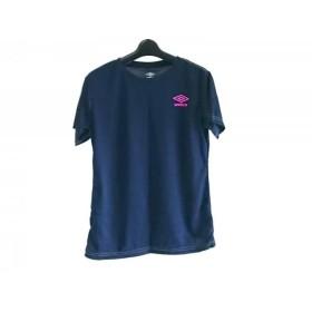 【中古】 アンブロ UMBRO 半袖Tシャツ サイズL レディース ネイビー ライトグリーン ピンク
