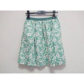 【中古】 ジャーナルスタンダード JOURNALSTANDARD スカート サイズS レディース 白 グリーン relume