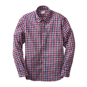 CANTERBURY WOOD(カンタベリーウッド)クレープチェック柄長袖カジュアルシャツ カジュアルシャツ