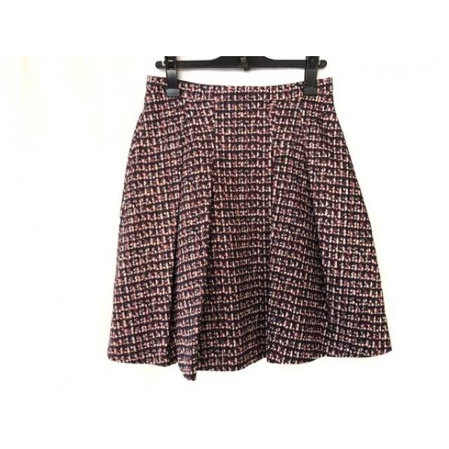 【中古】 ニジュウサンク 23区 スカート サイズ40 M レディース ダークネイビー レッド マルチ
