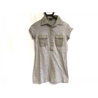 【中古】 セオリー theory 半袖ポロシャツ サイズS レディース グレー