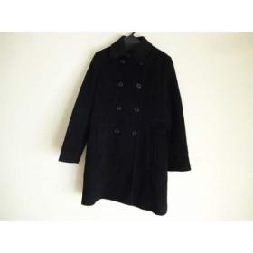 【中古】 グリーンレーベルリラクシング green label relaxing コート サイズ40 M レディース 黒 冬物