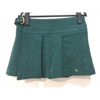 【中古】 キャロウェイ CALLAWAY 巻きスカート サイズL レディース 美品 グリーン