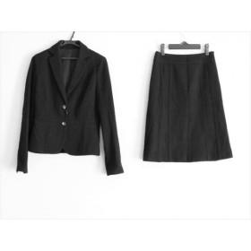 【中古】 ノーリーズ NOLLEY'S スカートスーツ サイズ38 M レディース 黒