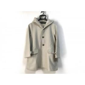 【中古】 パラスパレス Pallas Palace コート サイズ0 XS レディース 美品 アイボリー 冬物