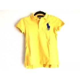 【中古】 ポロラルフローレン 半袖ポロシャツ サイズXS レディース ビッグポニー イエロー ブルー