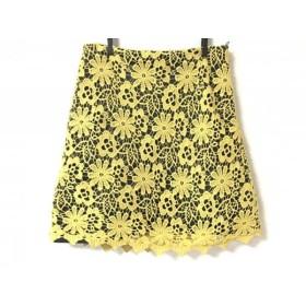【中古】 ドロシーシューマッハ スカート サイズ2 M レディース 美品 イエロー ダークグレー