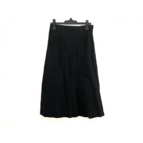 【中古】 バーバリーロンドン Burberry LONDON ロングスカート サイズ42 XL レディース 黒