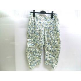 【中古】 キャシャレル cacharel パンツ サイズ36 S レディース ライトベージュ ブルー マルチ