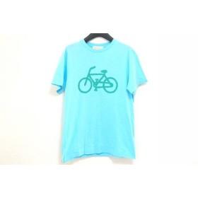 【中古】 ソウソウ SOU・SOU 半袖Tシャツ サイズS レディース ライトブルー グリーン le coq sportif
