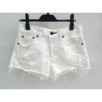 【中古】 マウジー moussy ショートパンツ サイズ2 M レディース 白 黒